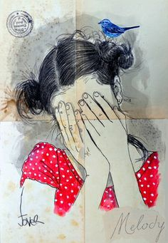 "Saatchi Art Artist Loui Jover; Drawing, ""melody"" #art"