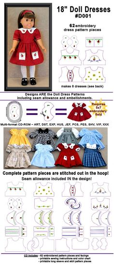 in the hoop doll embroidery and patterns that you embroider, cut, and sew together