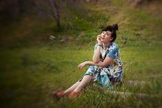 Rag Rug Print Topanga Dress. Myrtle Spring Lookbook. Photographed by Lauren Randolph.