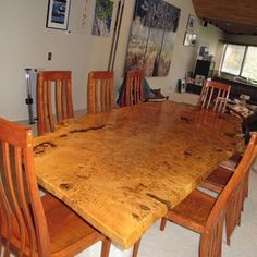 English White Oak Burl Dining Table by David Naso on CustomMade.Com