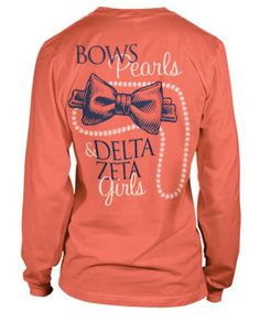 make it SAI and make the bow a rose, and you've got a cute Sigma Alpha Iota shirt