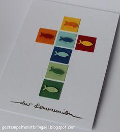 Gestempelte Mitbringsel: Die ersten Kommunionkarten