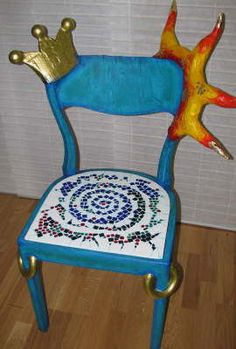 Most up-to-date Totally Free holzarbeiten bank Popular , Stuhl. Art Furniture, Furniture Design, Diy Chair, Sofa Chair, Whimsical Painted Furniture, Funky Chairs, Funky Design, Design Design, Bed Linen Sets