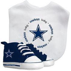 Cowboys Baby Bib & Pre-Walk Shoes Gift Set
