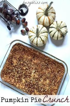 If you are looking to elevate Thanksgiving dessert from the usual pumpkin pie, you've gotta try Pumpkin Pie Crunch! Buttery, crunchy, pumpkin-y deliciousness!