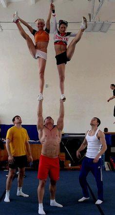 Some abspiration for everyone: Demetra Russian cheerleading partner stunt. #cheerleader #cheerleading #cheer