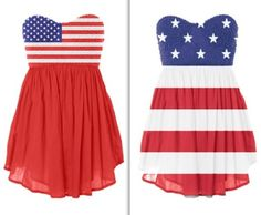 This is not part of flag etiquette.....but I think the purpose of these dresses is to show patriotism.