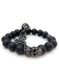 """The Dark Queen"" Bracelet by Guilty Jean (Black) #InkedShop #bracelet #skull…"
