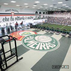 Neoflex Fitness Flooring at Sociedade Esportiva Palmeiras Football Club's new training facility in São Paulo, Brasil.