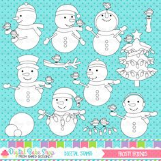 Frosty Friends Stamps - great for winter craft and creative projects.