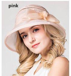 71fe1b9de32 Beautiful bow sun hat for lady silk bucket hat UV package. Sun Protection  HatSun Hats For WomenSummer Fashion ...