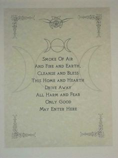 * Home Cleansing Prayer