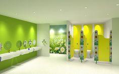 #LanServices #CommercialWashrooms #3Drender of #preschool #concept #toilets - we…