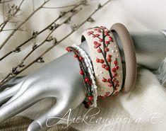 Set de pulseras bayas de invierno 4pcs pulseras de arcilla