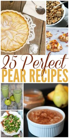 Tired of pumpkin everything? Pears are the perfect fall fruit, and here are 25 delicious meal ideas, drinks and desserts that use pears.