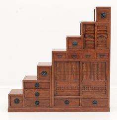 Japanese Step-Tansu Chest Cabinet, would be great addition to loft beds.