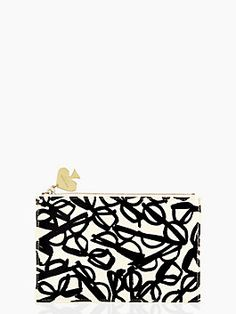 literary glasses pencil pouch set by kate spade new york