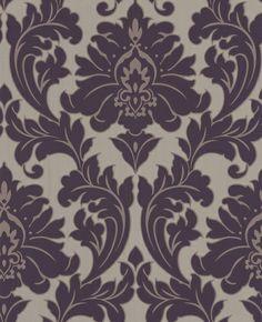Majestic: Purple Wallpaper from www.grahambrown.com