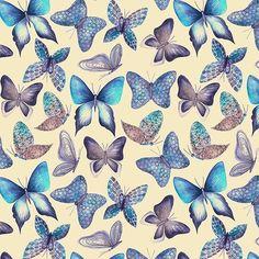 "Patternbank en Instagram: ""» patternbank.com/katyarozz Spring mood #pattern #patternbank #butterfly #surfacedesign #surfacepattern #printedvillage #designer…"" Surface Pattern, Surface Design, Pattern Bank, Butterfly Watercolor, Flyer, Designer, Textiles, Mood, Wallpaper"