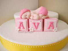 Baby Fondant Cake Topper  Handmade Edible Cake by SweetCakeTopper, $18.00
