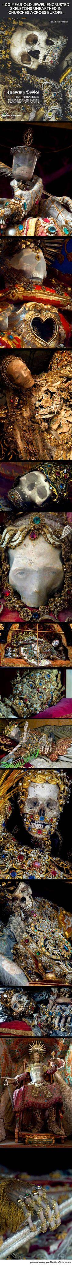 Skeletons In Churches Across Europe @genashguin