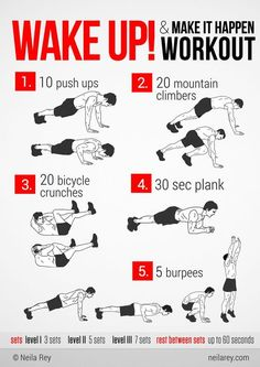 Workout (Fitness Routine Cardio) www. – Cedric Gibson Workout (Fitness Routine Cardio) www. Workout (Fitness Routine Cardio) www. Wake Up Workout, Gym Workout Tips, Ab Workout At Home, No Equipment Workout, Fun Workouts, At Home Workouts, Workout Fitness, Weight Workouts, Workout Challenge