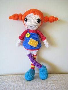 Crochet Pippi Longstocking (amigurumi/doll). Free crochet ...
