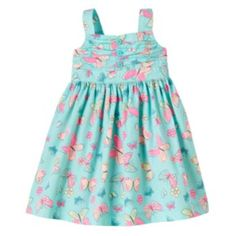 Blueberi Boulevard Ruched Dress - Baby Girl