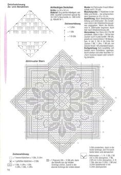 World crochet: Napkin 202 Crochet Snowflake Pattern, Crochet Snowflakes, Crochet Cross, Crochet Stitches Patterns, Doily Patterns, Crochet Home, Thread Crochet, Crochet Designs, Stitch Patterns