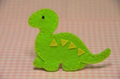 Set of 6pcs handmade felt dinosaur--isle green (FT349). $5,39, via Etsy.