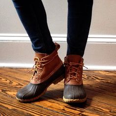 "6"" Duck Boots - L.L. Bean (perfect for fall & winter) ------ These will be my birthday present to myself :)"