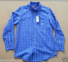 #CHAPS men size S cotton button down shirt blue plaid pattern NWT visit our ebay store at  http://stores.ebay.com/esquirestore