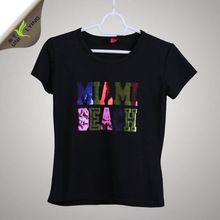 Miami Beach Sequins Wholesale Custom T-shirt Hot   Best Buy follow this link http://shopingayo.space