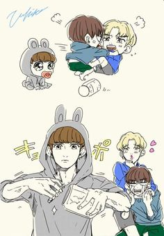 Jungkook❤️Jimin❤️Taehyung❤️ uploaded by meli on We Heart It Bts Chibi, Jikook, Taehyung, Bts Bangtan Boy, Namjin, Bts Memes, Bts Cute, Vkook Fanart, Jungkook Fanart