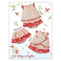 Kwik Sew Baby Oh Riley's Ruffles Dress & Bloomers (3901) Pattern