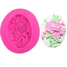 Oval Rose Silicone Mold