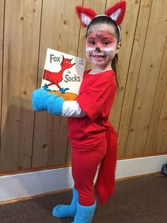 20 Easy Costume Ideas for Book Week - Stay at Home Mum Fox in Sox - a great costume idea for Book Week<br> Story Book Costumes, Storybook Character Costumes, World Book Day Costumes, Book Week Costume, Dr Seuss Diy Costumes, Teacher Halloween Costumes, Easy Costumes, Bookweek Costumes For Teachers, Diy Halloween