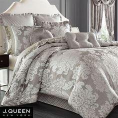 Chandelier Damask Comforter Bedding by J Queen New York