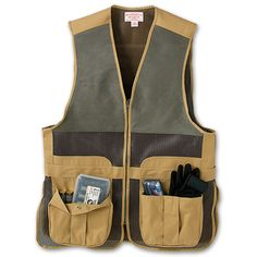 Cool mesh, durable pockets and soft moleskin shooting patches - Mesh Clay Shooting Vest