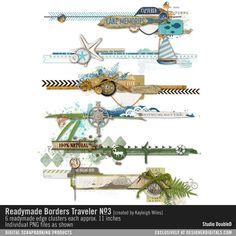 Readymade Borders: Traveler No. Studio Double-D Elements- DesignerDigitals Scrapbook Examples, Scrapbook Quotes, Scrapbook Borders, Scrapbook Embellishments, Scrapbook Sketches, Scrapbook Page Layouts, Scrapbook Stickers, Travel Scrapbook, Scrapbook Paper Crafts