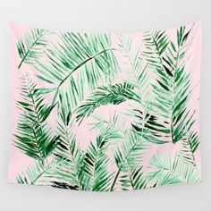 A personal favorite from my Etsy shop https://www.etsy.com/listing/543677530/pink-palm-leaf-wall-tapestry-palm-leaves