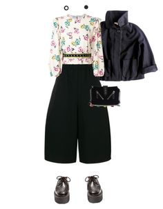 """""""Three quarters between"""" by merryl-key on Polyvore featuring Sandro, Junya Watanabe, RED Valentino, Kenzo and Kate Spade"""