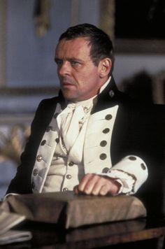 Anthony Hopkins as Captain Bligh in the film 'The Bounty', 1984.