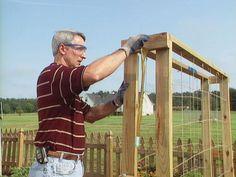 Cattle panel trellis for garden