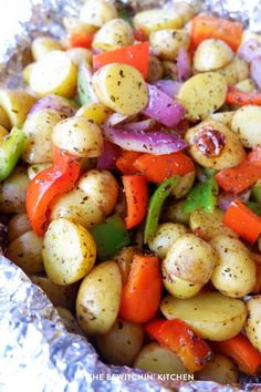 Herb and garlic grilled potatoes