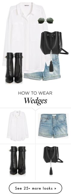 """Untitled #10146"" by alexsrogers on Polyvore featuring Madewell, H&M, Givenchy, Yves Saint Laurent and Illesteva"
