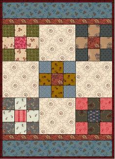 Free pattern - Simple nine-patch  quilt. http://www.countrylanequilts.com/id30.html