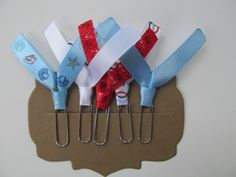 Nautical Theme Paperclips, Bookmarks, Ribbon Clips, Filofax, Planner Accessories, Erin Condren Planner, Bible Bookmark by blessedbydesign on Etsy
