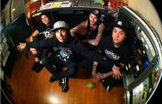 #PierceTheVeil in the studio working on their release for #FearlessRecords. Check out the interview with #VicFuentes here. http://www.altpress.com/features/entry/pierce_the_veil_vic_fuentes_interview_studio