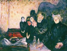 Death Struggle 1915 by Edvard Munch